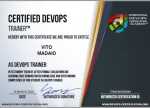 Certificazione DevOps Trainer - Vito Madaio